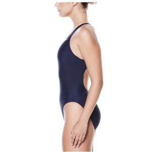 Nike Core Solid Fast Back One Piece Navy Swimsuit